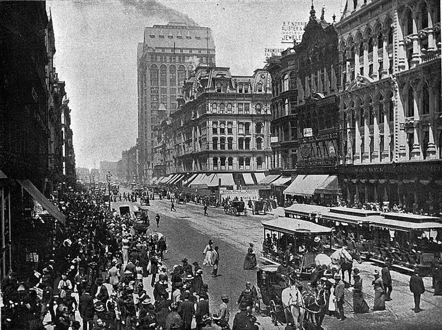 image shows chicago in 1886